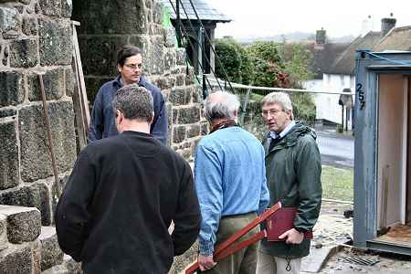 A site meeting with Pip Morrison the architect