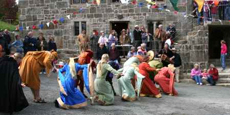 The famous King's Brawlers medieval dancers